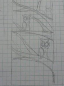 Owl Quilt Sketch