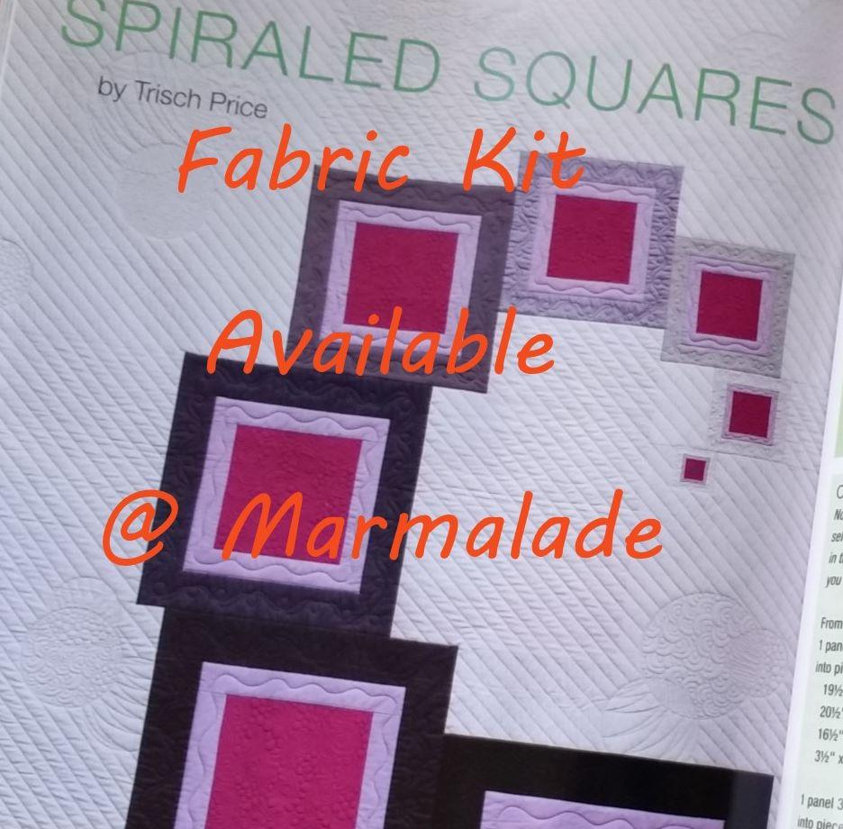 Spiraled Squares Fabric Kit